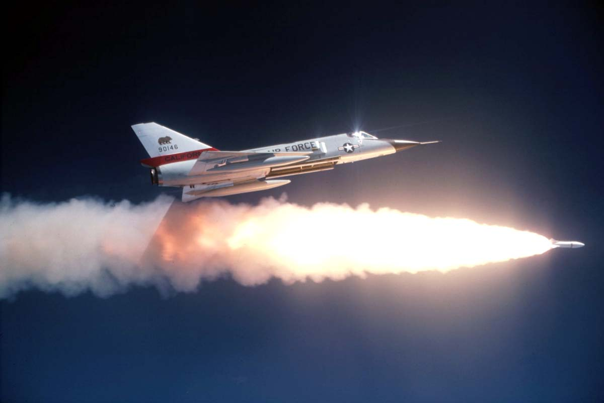 F-105 firing Nuke capable missile!